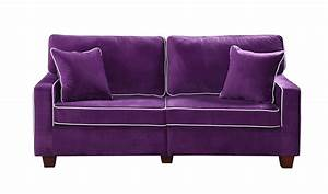modern two tone purple velvet fabric living room love seat With modern purple sectional sofa