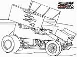 Coloring Sprint Dirt Race Racing Pages Cars Drawing Colouring Drawings Late Printable Sheets Sprintcar Template Clipart Track Clip Getdrawings Wingless sketch template