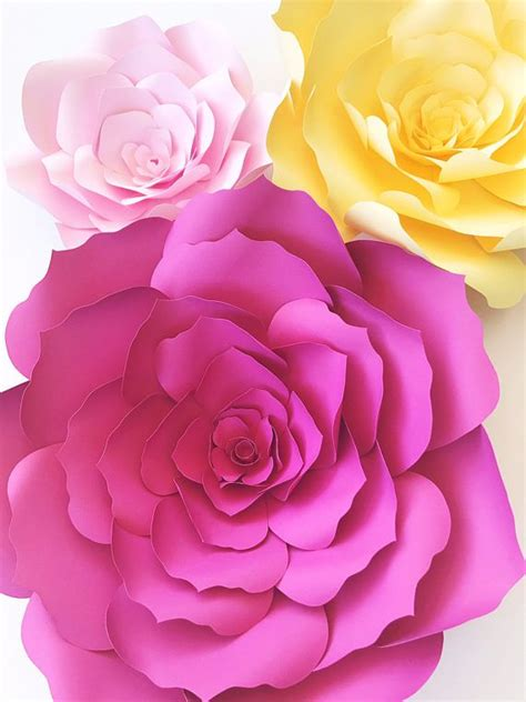 paper flower backdrop template paper flower template diy paper flower pattern paper flower templates pattern paper flower