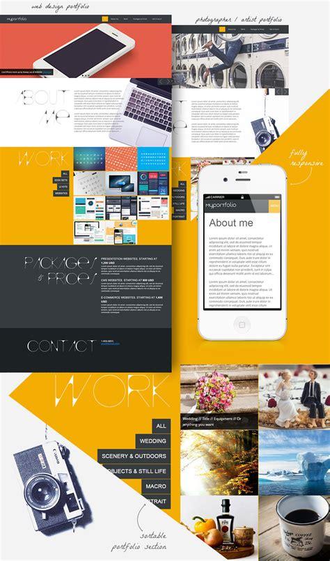 page responsive portfolio template  designers