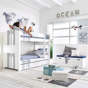 Lit Superposé Maison Du Monde : lit superpos 90x190 blanc quai nord maisons du monde ~ Melissatoandfro.com Idées de Décoration
