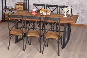 Table Bois Et Fer : table de bar fer forge et bois ~ Teatrodelosmanantiales.com Idées de Décoration
