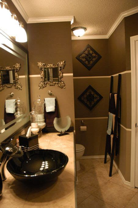 Decorating Ideas For Bathrooms Colors by Gold Paint Color With White And Seafoam Tile Bathroom