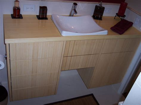 custom bamboo bathroom vanity  mc keown design