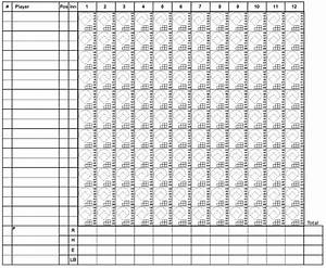 13 free sample softball score sheet templates printable With softball scorecard template