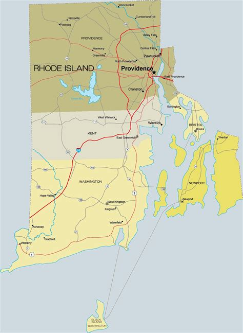 Rhode Island County Maps
