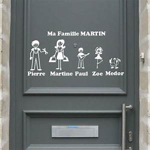 les stickers zousticks a limage de votre famille sur With porte d entrée pvc avec stickers autocollant salle de bain