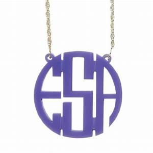 monogrammed three letter acrylic circle necklace more With plastic monogram letters