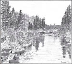 Landscape Pencil Drawing Gallery