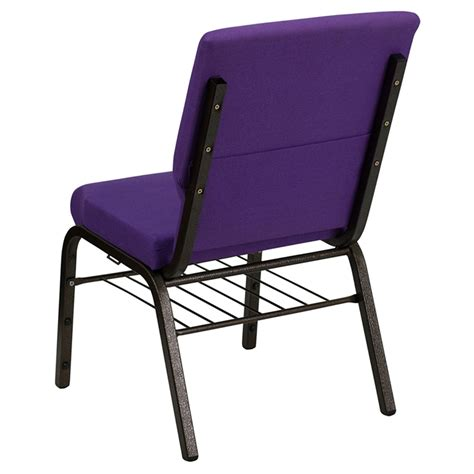 Stackable Church Chairs Free Shipping by Hercules Series Stacking Church Chair Book Rack Purple