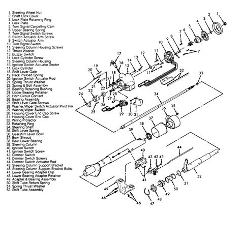 Gm Steering Column Diagram by How Do I Get A Diagram Of A Steering Column Of A 1993