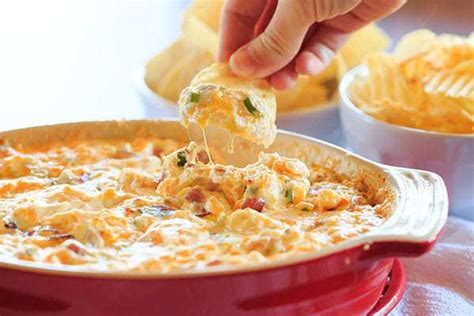 warm dips warm and cheesy bacon dip brown eyed baker