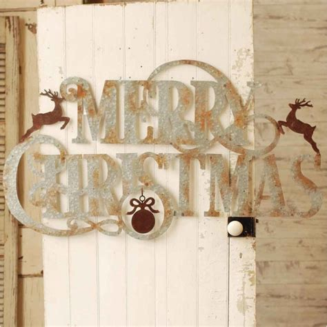 merry christmas metal sign  cottage   city