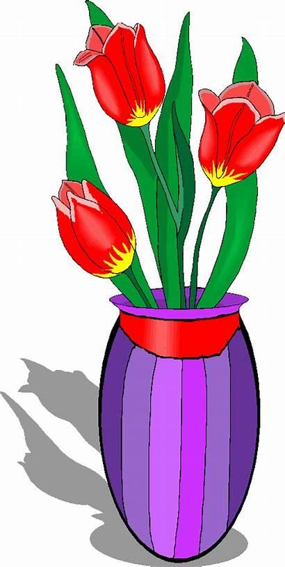 Vase Clipart Flowers Clip Tulips Flower Cliparts