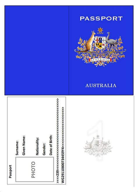 Passport Template The 25 Best Passport Template Ideas On