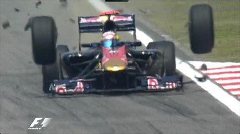 Buemi's Wheels Shear Off In F1 Crash
