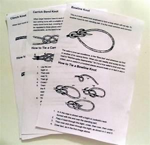 Knot Tying Diagrams Printables