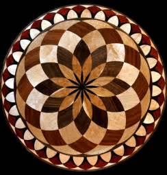 Wood Floor Medallion Inlay