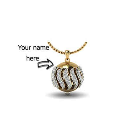 gold and white watches your name pendant