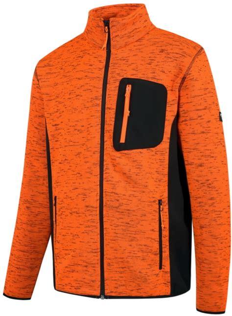 Augstas redzamības džemperis Florence, oranžs/melns, 3XL, Pesso - Hi-vis flīsa jakas, puloveri ...