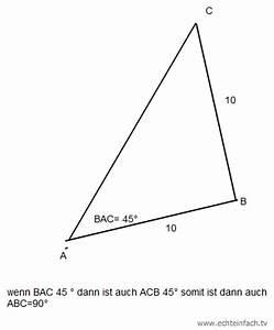 Gleichschenkliges Dreieck C Berechnen : satz des pythagoras wie kann man berpr fen ob ein gleichschenkliges dreieck rechtwinklig ist ~ Themetempest.com Abrechnung