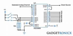 Analog To Digital Converter Circuit Using Adc0808