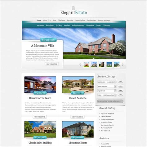 Real Estate Themes 10 Best Real Estate Themes Templates For 2018