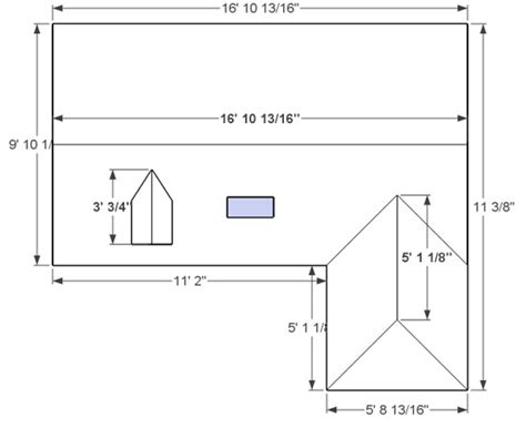 How To Measure A Hip Roof For Metal by Diy Measurement Step 3 Enlarged Measure Ridglines Diagram