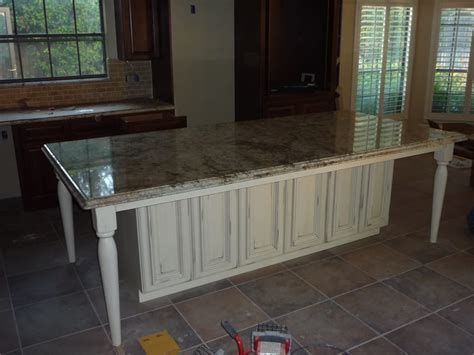 island with table legs and granite countertop c yelp