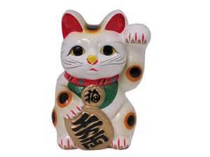 traditional japanese lucky cat saving bank