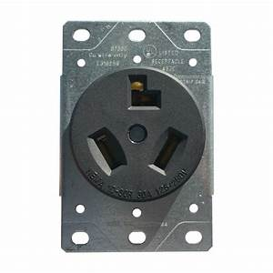30 Amp Flush Mount Dryer Plug Receptacle 3