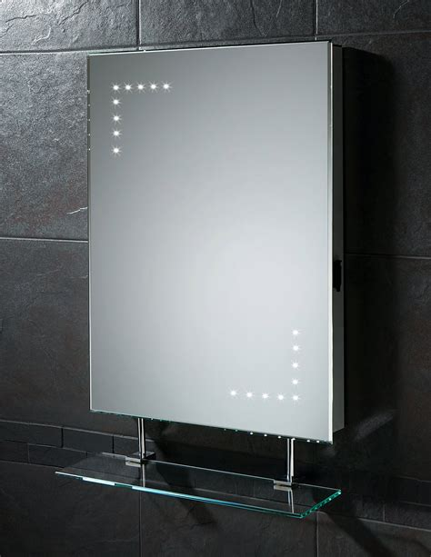 hib celeste led mirror  glass shelf  shaver socket