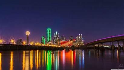 Skyline Dallas Wallpapers 4k Desktop Wide Oversaturated