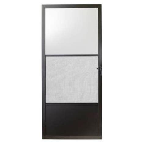 bronze screen door emco 32 in x 80 in 75 series bronze self storing