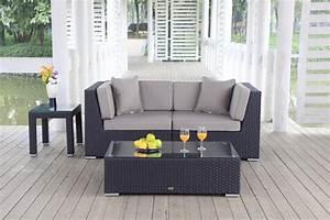 Rattanmöbel Garten Lounge : rattanm bel rattan garten lounge kleine lounge rattan garten sofa klein orient schwarz ~ Markanthonyermac.com Haus und Dekorationen