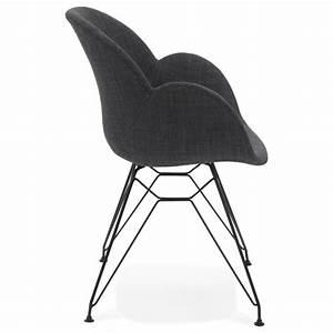 Chaise Tissu Design : chaise design style industriel tom en tissu pied m tal noir gris fonc ~ Teatrodelosmanantiales.com Idées de Décoration