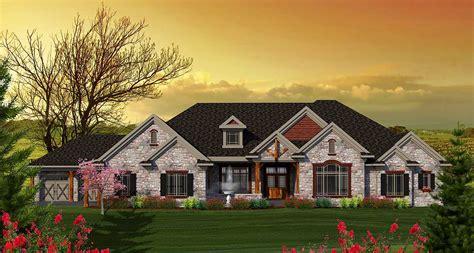 level craftsman home plan ah architectural designs house plans