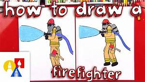 How To Draw A Firefighter Youtube