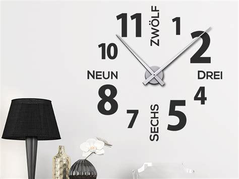 Große Uhr Wand by Wandtattoo Uhr Moderne Zeiten Wanduhr Wandtattoos De