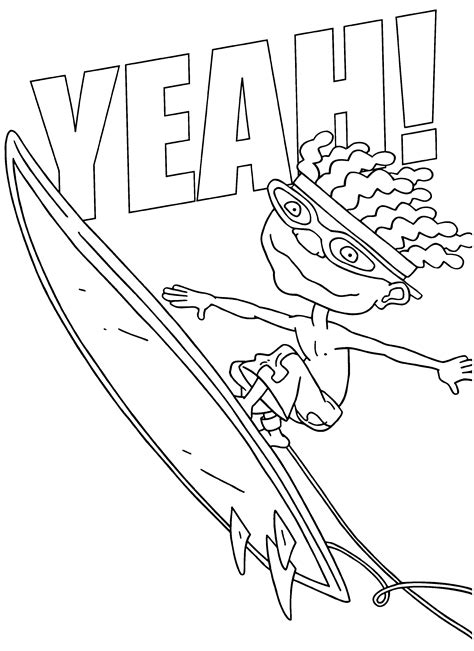 Coloring Page Tv Series Coloring Page Rocket Power