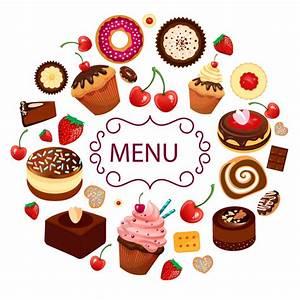 Cartoon dessert menu vector material cartoon,dessert,menu ...