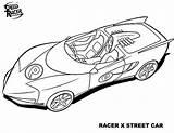 Coloring Speed Racer Street Speeding sketch template
