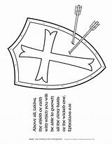 Shield Coloring God Armor Pages Bible Activities Children Salvation Helmet Faith Christian Crafts Printable Template Lesson Ministry Sunday Activity Sword sketch template