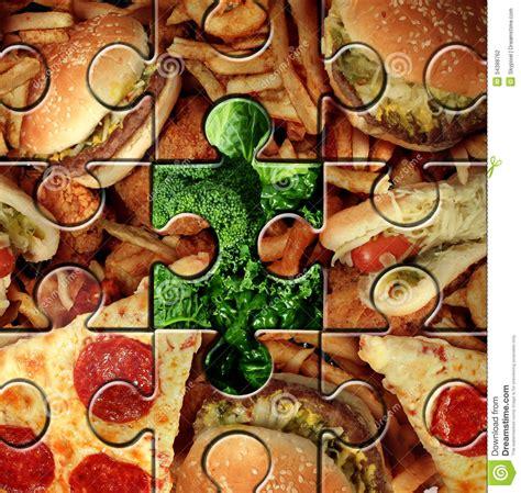 puzzle cuisine breaking bad habits stock photography image 34388762