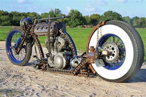 Completely Sick Home Made Custom Rat Rod Bobber Motorcycle