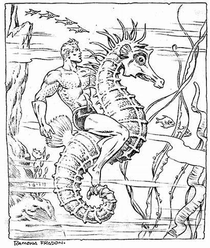 Aquaman Coloring Pages Comic Ramona Fradon Twomorrows