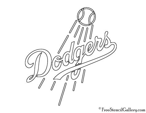 Los Angeles Dodgers Pages Coloring Pages
