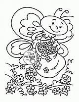 Coloring Spring Animals Bee Seasons Summer Little Printable Mandala Wuppsy Sheets Season Printables Animal Popular sketch template