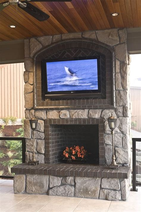 pros cons  mounting  tv   fireplace outdoor