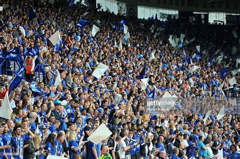 Leicester city fans during the Barclays Premier League ...